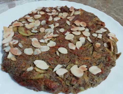 Torta di lenticchie con zucchine trombetta